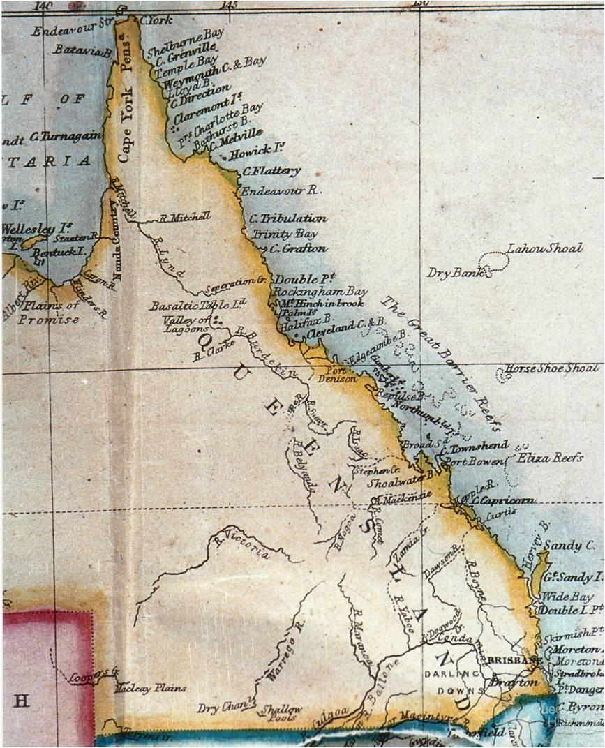 Map Queensland.Edward Stanford S Map Of Queensland 1861 Queensland Historical Atlas