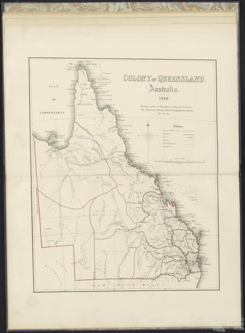 General Map of Queensland, showing Districts proclaimed as Electorates, &c.