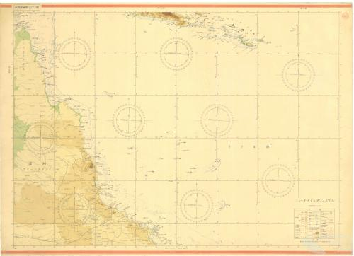 Japanese map of the Coral Sea, 1942