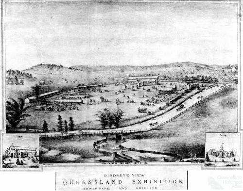 Bird's eye view, Queensland Exhibition, 1876