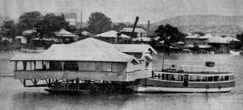 Moving house from Bulimba to Bishop Island, 1934