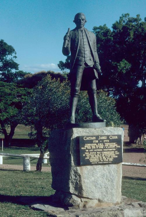 James Cook monuments, Cooktown, 1988