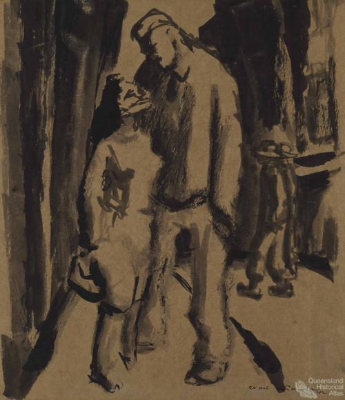 Woman and soldier (Pick up), 1942
