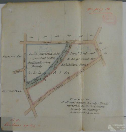 Land proposed to be granted to the Queensland Acclimatisation Society, c1890