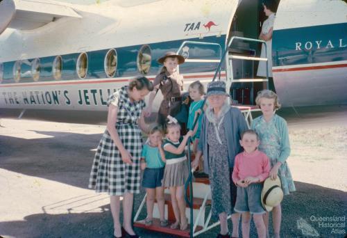 TAA aircraft at Ayr Airport, 1962