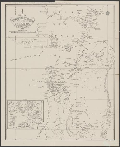Map of the Torres Strait and Islands, 1892