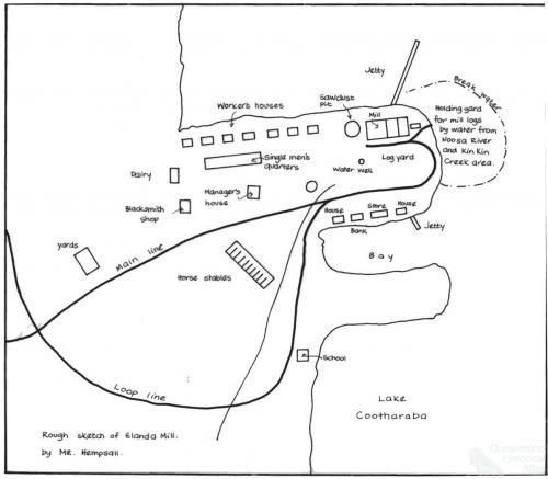 Mr Hempsall's sketch of Mill Point