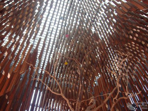 Inside the Tree of Knowledge Memorial, Barcaldine, 2009