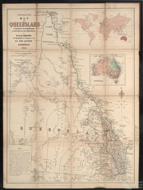 Emigration map of Queensland, 1865