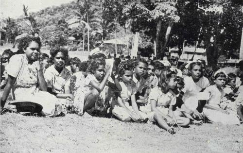 Girls from Yarrabah Aboriginal Reserve, Mulgrave Shire, 1954
