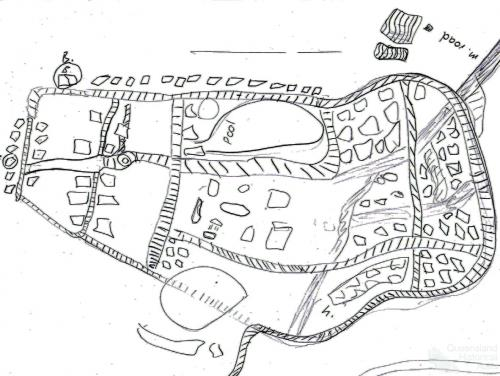 Boy A, freehand map of Cherbourg