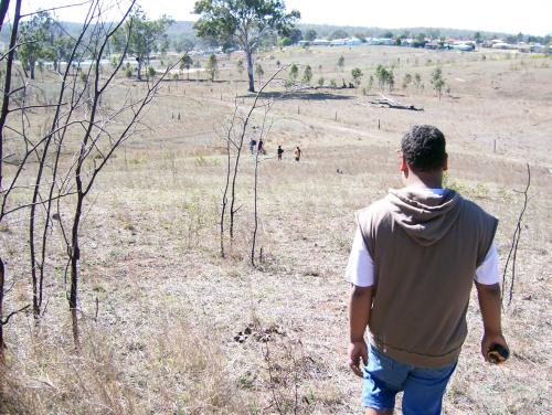 Walking out bush, Cherbourg, 2010
