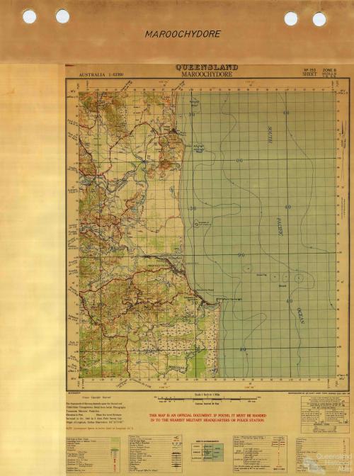 Maroochydore military map, 1942