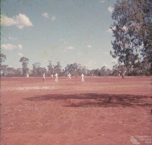 Cricket in Talwood during a drought, 1965