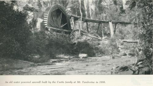 An old water powered sawmill at Mount Tamborine, 1958