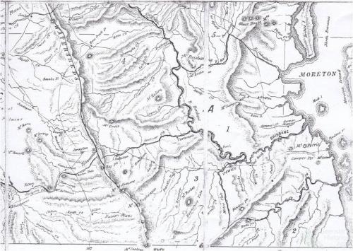 Leopold Landsberg's map of Queensland, 1860