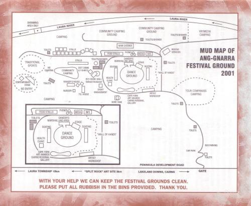 Mud Map of Ang-Gnarra Festival Ground, 2001