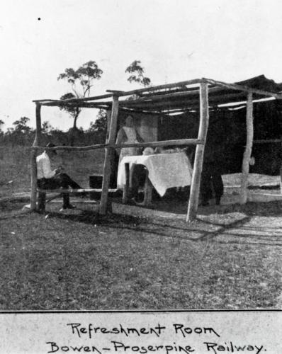 Refreshment Room on the Bowen-Proserpine Railway, 1922