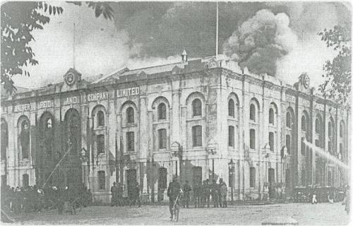 Fires at Walter Reid building Rockhampton, 1912-18