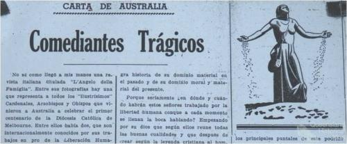 Letter from Australia, Salvador Torrents
