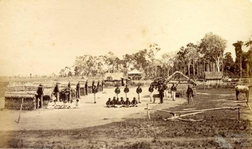 Lower Herbert River Native Police camp, early 1870s