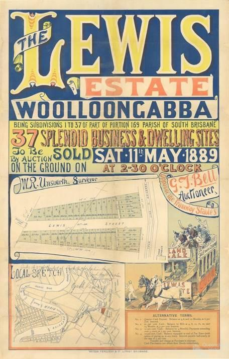 The Lewis Estate, Woolloongabba landsale, 1889