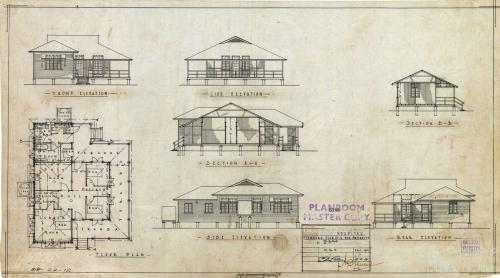 Standard maternity ward plan, 1929