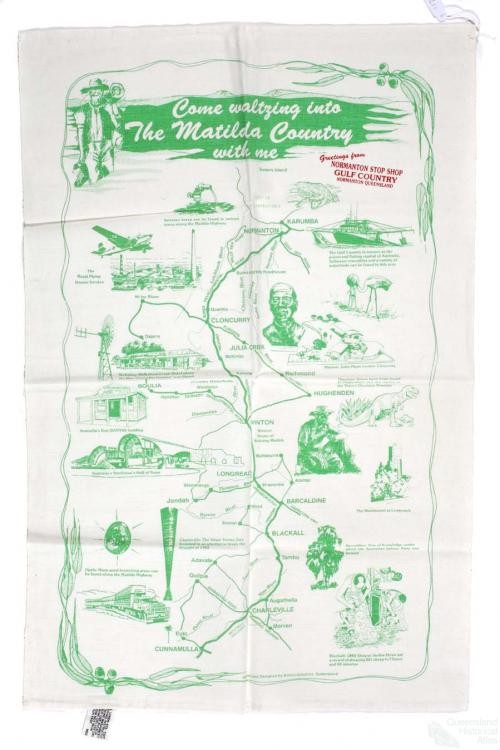 Tea-towel: Matilda Country, 1989