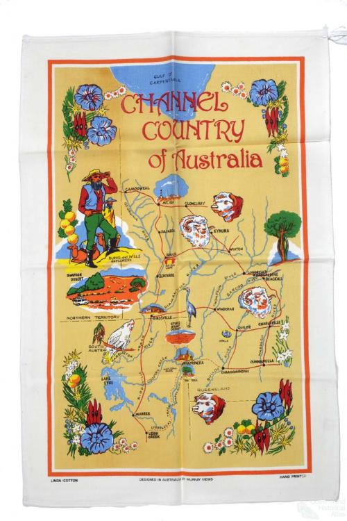 Tea-towel: Channel Country