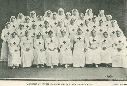 Members of South Brisbane Branch of the Red Cross Society, 1919