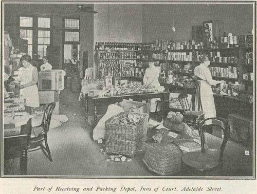Volunteers at Queensland Red Cross Society Headquarters, 1917