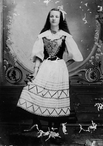 Anna Christina Kruse in Danish national costume