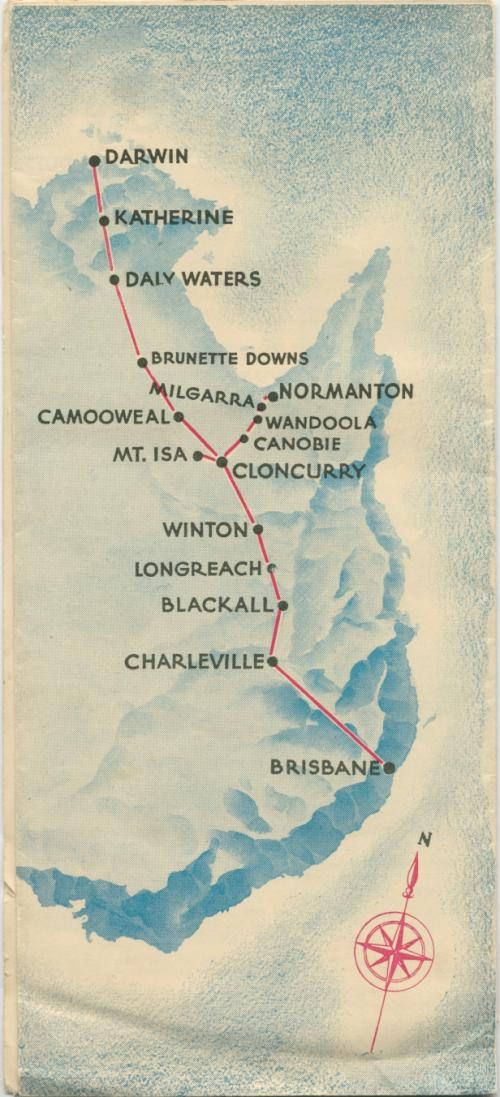 Qantas Empire Service, Brisbane - Western Queensland - Darwin services, 1945