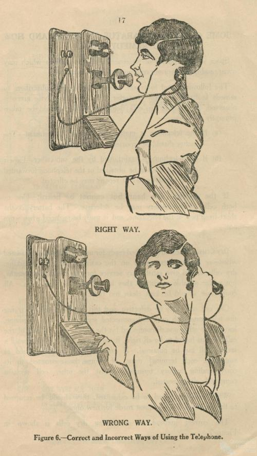 Correct and Incorrect Ways of Using the Telephone, 1928