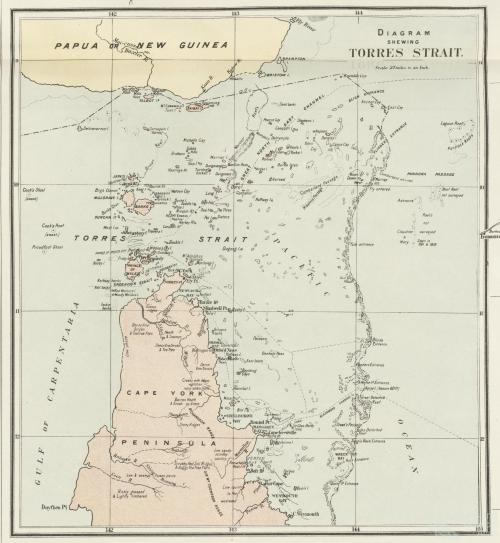 Diagram showing Torres Strait