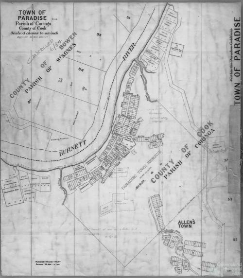 Paradise town plan, c1892
