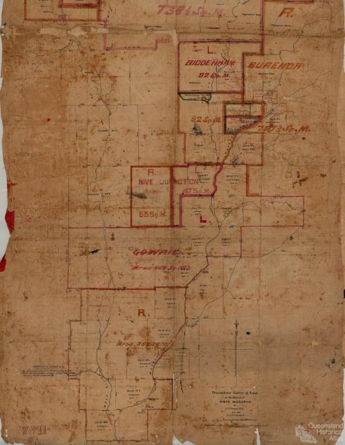 Perambulator survey of runs in West Maranoa, 1863