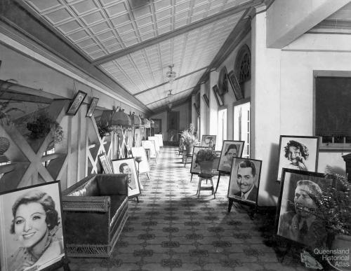 Foyer of Townsville Wintergarden theatre, c1930