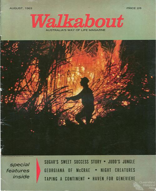 Walkabout cover, August 1963