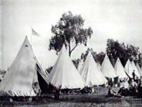 Shearer's strike camp at Barcaldine, 1891