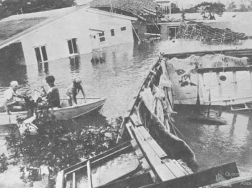 Flood in Yeronga, Brisbane, 1974