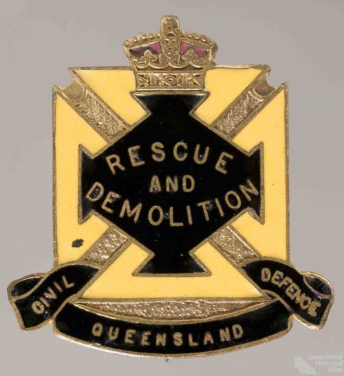 Civil Defence badge, Rescue and Demolition