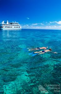 Tourists from the Coral Princess snorkelling at Nathan Reef, 2005