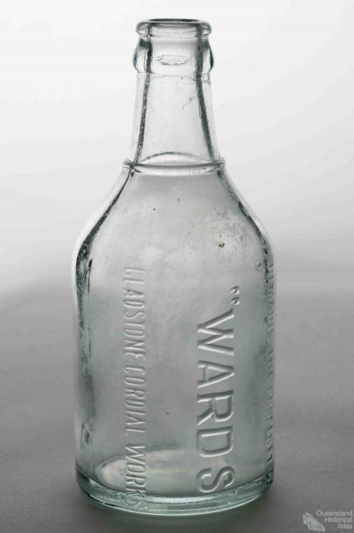 Wards Gladstone Cordial Works glass bottle