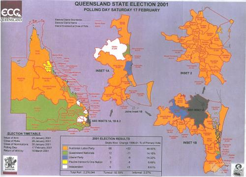 Queensland state election, 2001