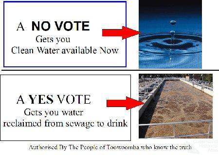 Anti-recycled water campaign, Toowoomba