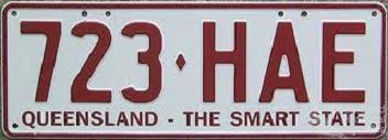 Queensland licence plates, c2001-02