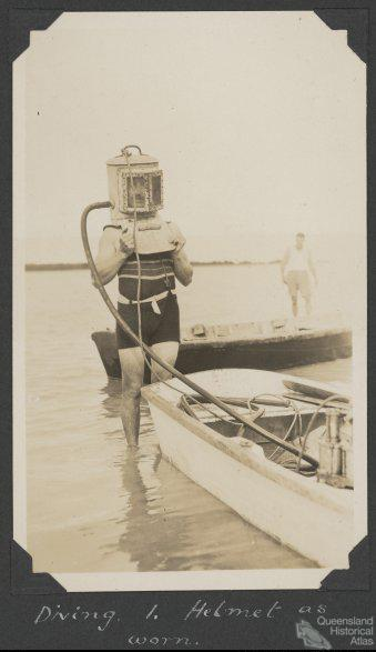 Diving helmet, Low Isles, 1928