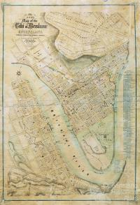 Ham's Map of the City of Brisbane, 1863