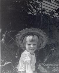 Francesca in the garden in St Lucia, c1964